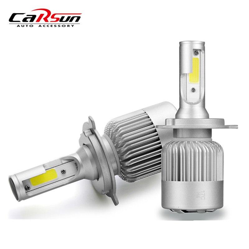 CARSUN Q2 72W 8000lm Auto LED Bulb Headlamp 6000K Light Car Headlight 9006 H3 H11 H13