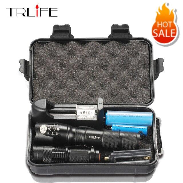 10000 lumen LED Taschenlampe L2/T6 Zoomable Tactical Taschenlampe Aufladbare Mini Lampe Penlight 18650 Batterie 2 PCS