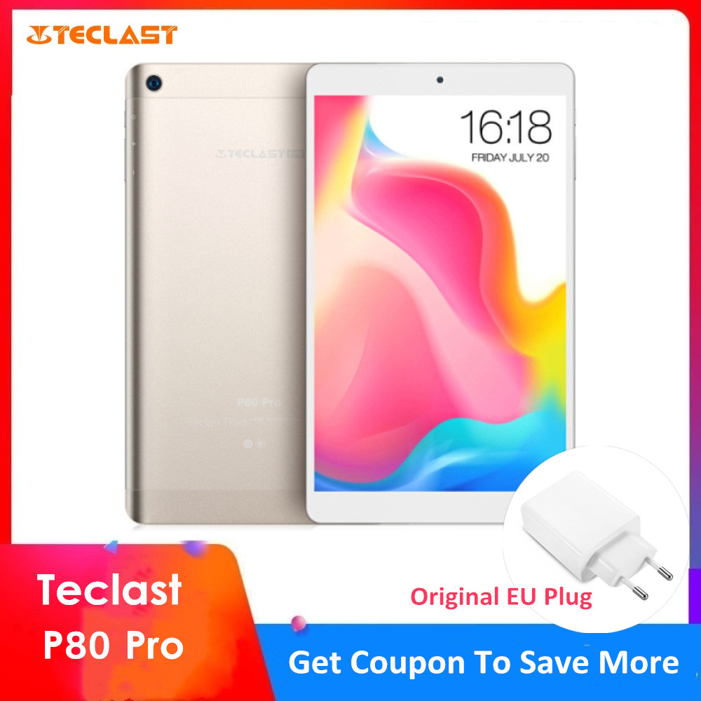 Teclast P80 Pro Tablet PC 8.0'' Android 7.0 MTK8163 Quad Core 1.3GHz 3GB RAM 16GB/32GB EMMC ROM Double Cameras Dual WiFi HDMI