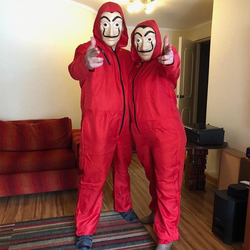 Salvador Dali La Casa De Papel Costume & masque visage Cosplay La maison du papier jeu De rôle fête adulte Cosplay argent Heist S-XXL