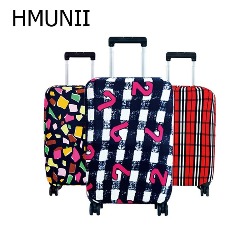 HMUNII карта мира, дизайнерский защитный чехол для багажа, Дорожный Чехол для чемодана, эластичные пылезащитные Чехлы для 18-32 дюймов, аксессуары для путешествий