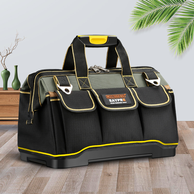 """New 2019  Tool bags 13"""" 16""""18 20""""1680 D Oxford Cloth  bag Top Wide Mouth Electrician bags"""