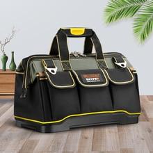 "Yeni 2019 alet çantaları 13 ""16"" 18 20 ""1680 D Oxford bez çanta üst geniş ağız elektrikçi çanta"