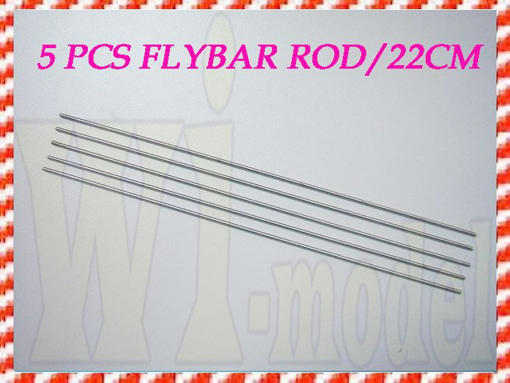 F00139-5 5PCS HS1264 Flybar Rod 220mm For ALIGN TREX T-REX 450 SE V2 PRO SPORT Rc Helicopter Heli