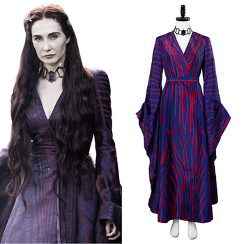 Game of Thrones Season 6 Costume Melisandre Dress Costume Red Blue Dress Gown Halloween Carnival Cosplay Custom Made