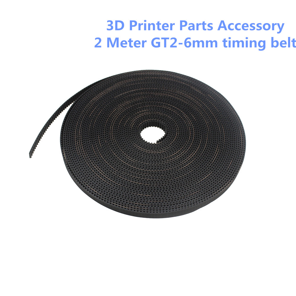 3D Printer Parts Accessory 2meter GT2-6mm Open Timing Belt Width 6mm GT2 Belt Hermet Belt