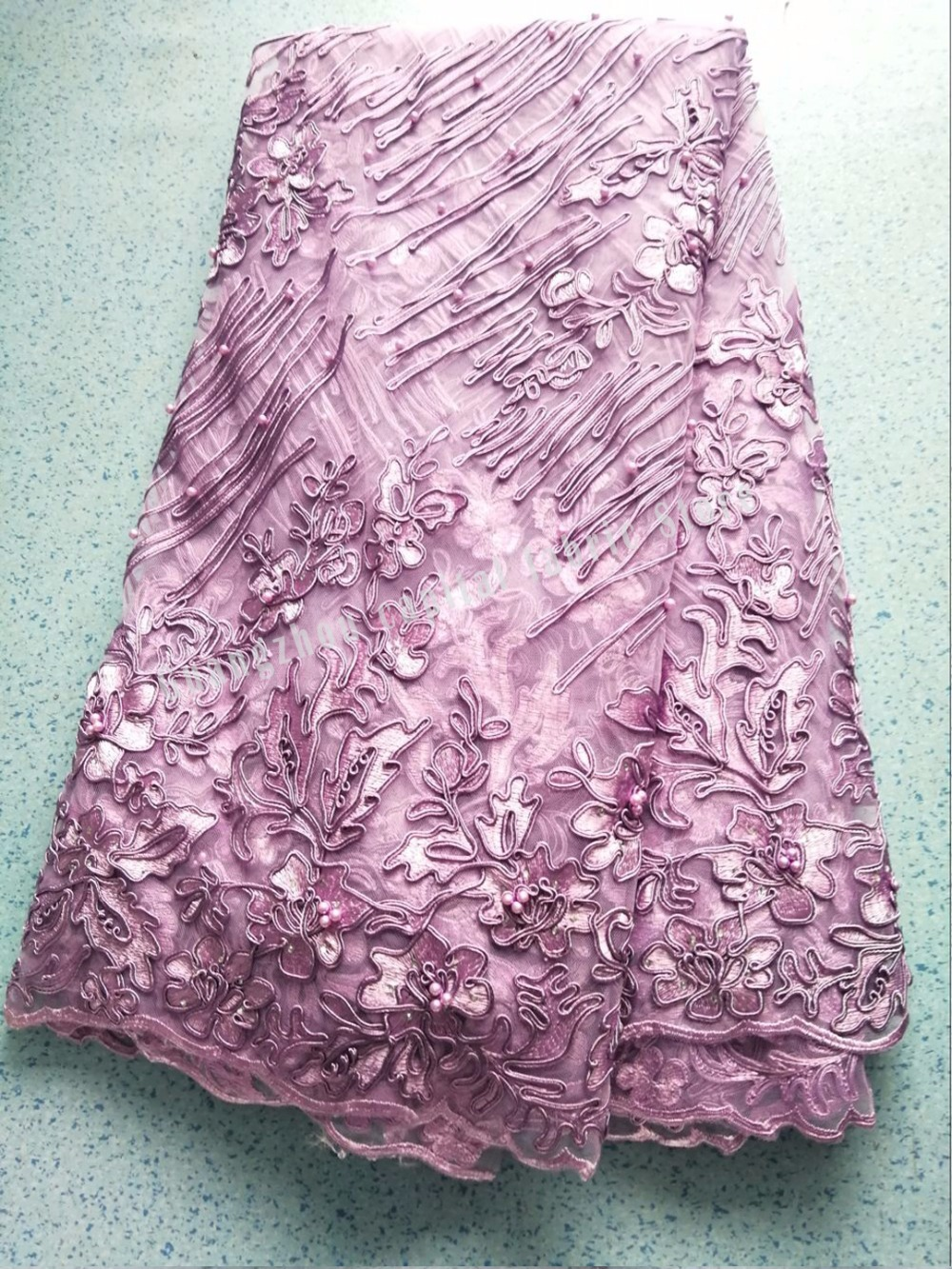 French new lace fabric, with fine beads embroidered fabric, fashionable and beautiful dressFrench new lace fabric, with fine beads embroidered fabric, fashionable and beautiful dress
