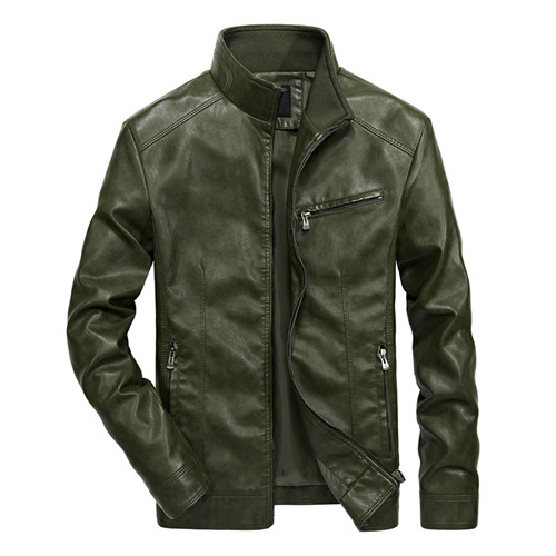 Cool Moto Mens PU Leather Biker Jacket