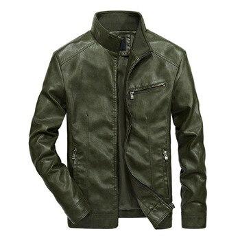 Cool Moto Mens PU Leather Biker Jacket