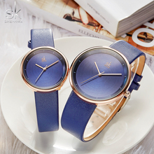Shengke 2020 Brand Quartz Couple Watch Set Leather Watches F