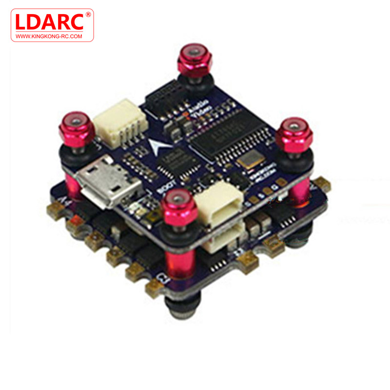 LDARC/Kingkong 20*20mm 2 Layer KK Flytower 12A 20A BLheli_S ESC & F4 Flight Controller w/ OSD For RC Multicopter Parts ldarc kk super flytower part 30 5 30 5mm f4 osd flight controller w 48ch 25 200 600mw vtx for rc models multicopter part accs