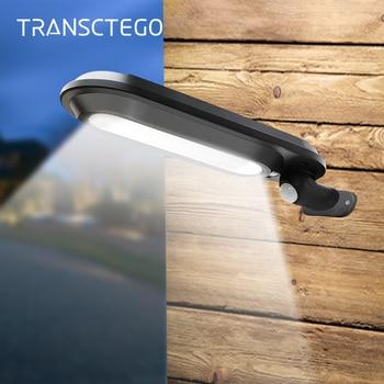 LED Solar Street Light Wall Lamp Outdoor Sconces Motion Sensor Gutter IP65 Waterproof Solar Lights For Garden Security Lighting