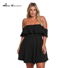 Lan Karswear New Summer Women Party Dress Strapless A-line Plus Size Clothing Vestidos Free Shipping