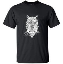 2017 Fashion Men's Cotton T-Shirt Printed Owl drake Brand Printed Casual T Shirts Men Clothing kanye tee pp camisetas