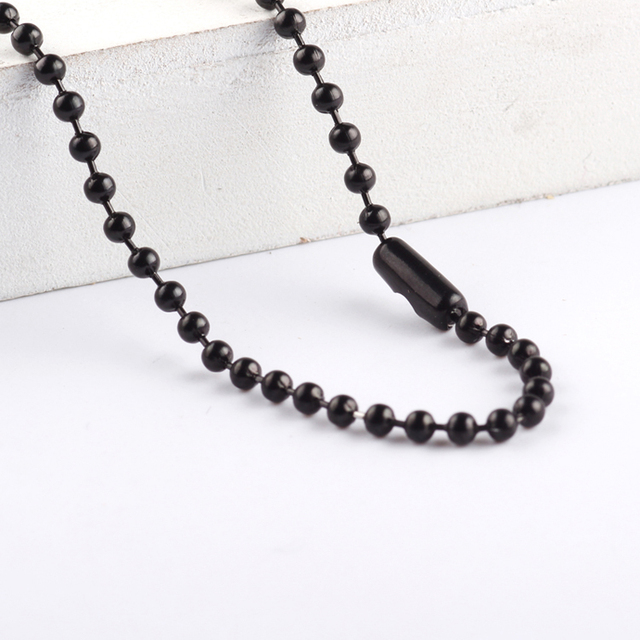 beaded index chain chains single black mangalsutra lined linked
