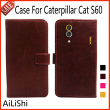 AiLiShi Leather Case For Caterpillar Cat S60 Luxury Flip Protective Bag Cover Phone Wallet With Card Slot Fashion