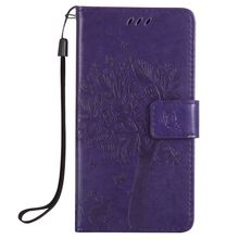 MuTouNiao Purple Leather Flip Case Cover For Samsung Galaxy A3 A5 A6 A7 A8 Plus J1 J2 J3 Pro Ace C5 C7 2016 2017 2018
