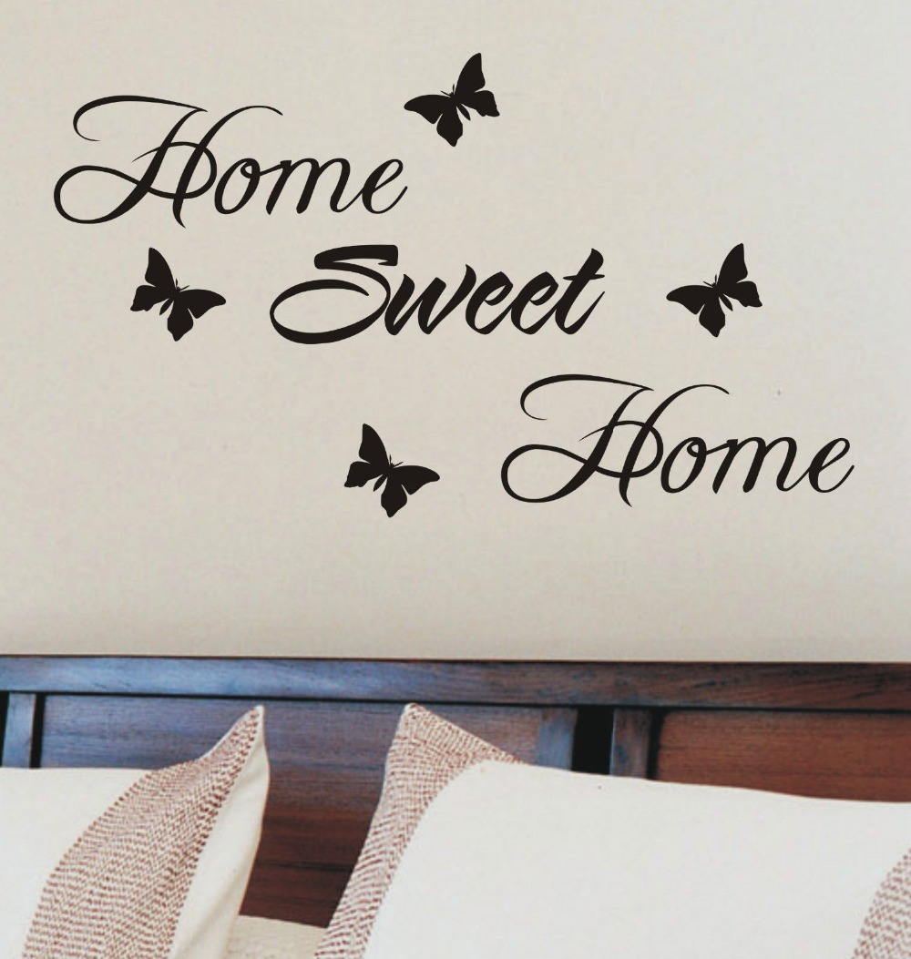 Wall stickers home sweet home - Home Sweet Home Wall Sticker Quote Vinyl Wall Art Home Decoration Wall Decals 30cm Long