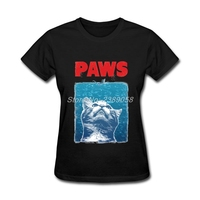 Brand Clothing Womans T Shirts Short Sleeve Cat Cartoon Slim Fit Paws Personality Cotton T Shirts