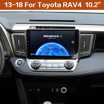 "FEELDO 10"" Inch Android 8.1 Car Multimedia player GPS Navi for toyota RAV4 2013-2019 with radio FM WIFI navigation"