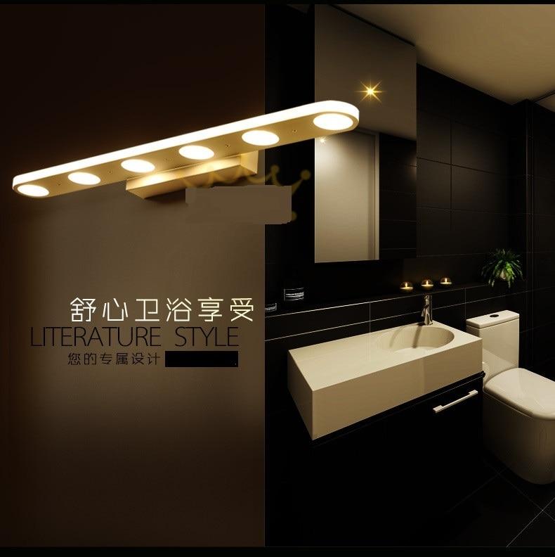 luci specchio lampada da parete lampada a led specchio del bagno moderno e minimalista nebbia impermeabile