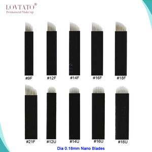 Image 1 - Extremely Thin 0.18mm Nano blades microblading needles Permanent Makeup Eyebrow Tattoo Needle Blade Microblade 3D Embroidery
