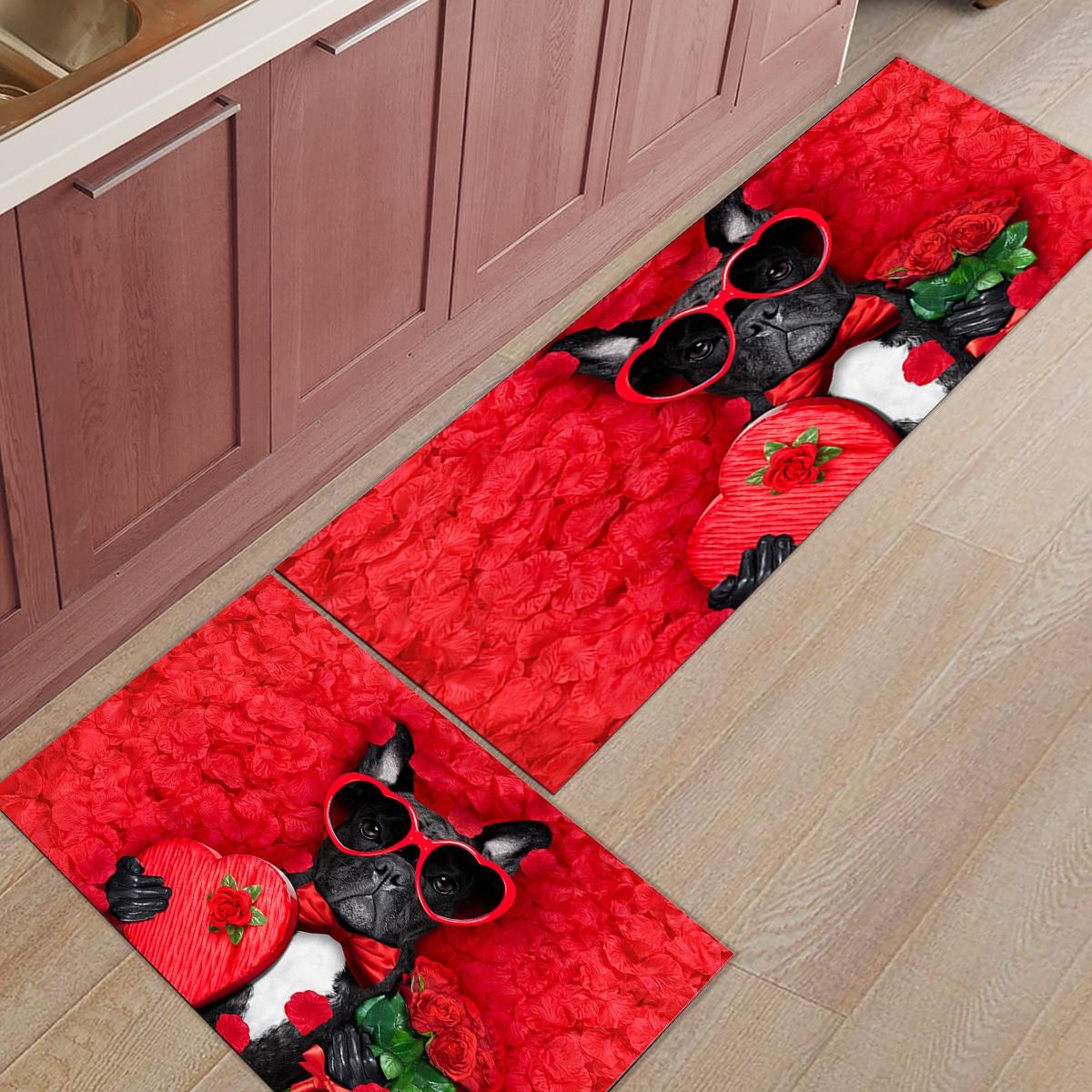 2pcs Set Valentine S Day Theme Doormat Entrance Front Door
