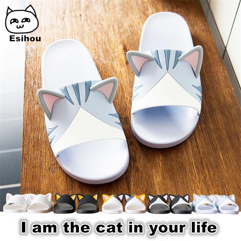 Super Cute Cat Sandal kitty Cartoon Original Cosplay Costumes Shoes Summer Lovers Soft Soled Japanese Home Slipper Nice Gift