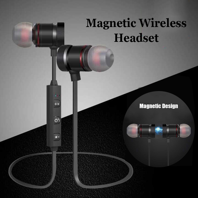 Magnet Bluetooth TWS Earphone Wireless Sport Music In-ear Earbuds For Apple iPhone Samsung Xiaomi Android Magnetic Head phone tws wireless earphones bluetooth earphone pair in ear music earbuds set for apple iphone 6 7 samsung xiaomi sony head phone md1