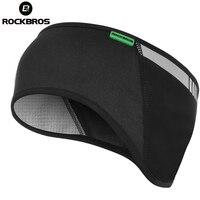 ROCKBROS Велоспорт велосипед одежда на открытом воздухе Tab спортивная повязка на голову шапка протектор для уха зима теплая флисовая велосипед...