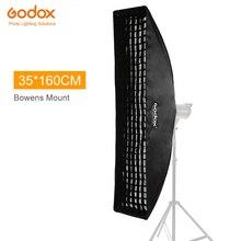 "Godox 14""x 63"" 35x160cm Strip Beehive Honeycomb Grid Softbox for Photo Strobe Studio Flash Softbox Bowens Mount"
