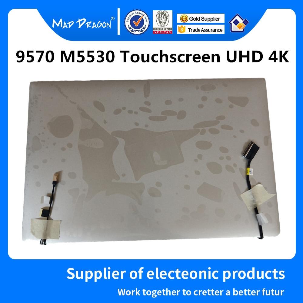 Dragão louco marca portátil novo 15.6 touchscreen uhd 4 k display lcd conjunto completo para dell xps 15 9570 precisão m5530 0jxf32