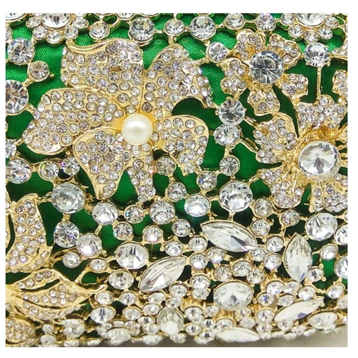 Clair Banquet Soirée vert Portefeuille Jour Mariage Femme Strass Sacs Bourse Cristal Sac Embrayage Diamant Rose Épaule Vert De Embrayages Femmes Parti 6xERqAw