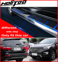 Different! New arrival fashional running board side step bar for Hyundai Santa Fe 2013 2018, fit this car only, three colors