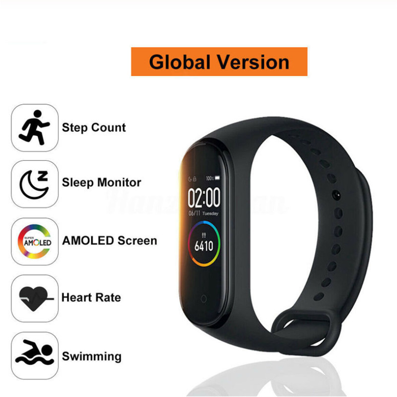 M4 Smart Sport Bracelet Watch Heart Rate Monitor Fitness Tracker Swimming Waterproof Wristband
