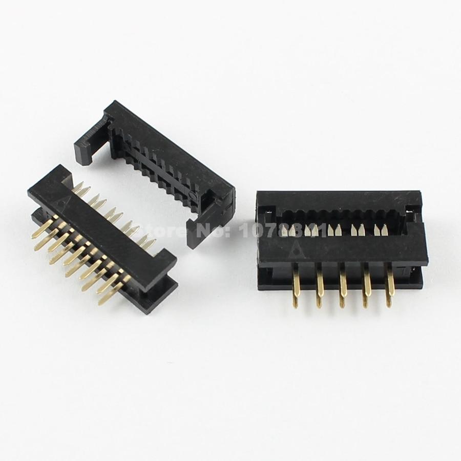 10 pcs per lot 2 54mm pitch 2x5 pin 10 pin male header idc ribbon cable [ 900 x 900 Pixel ]