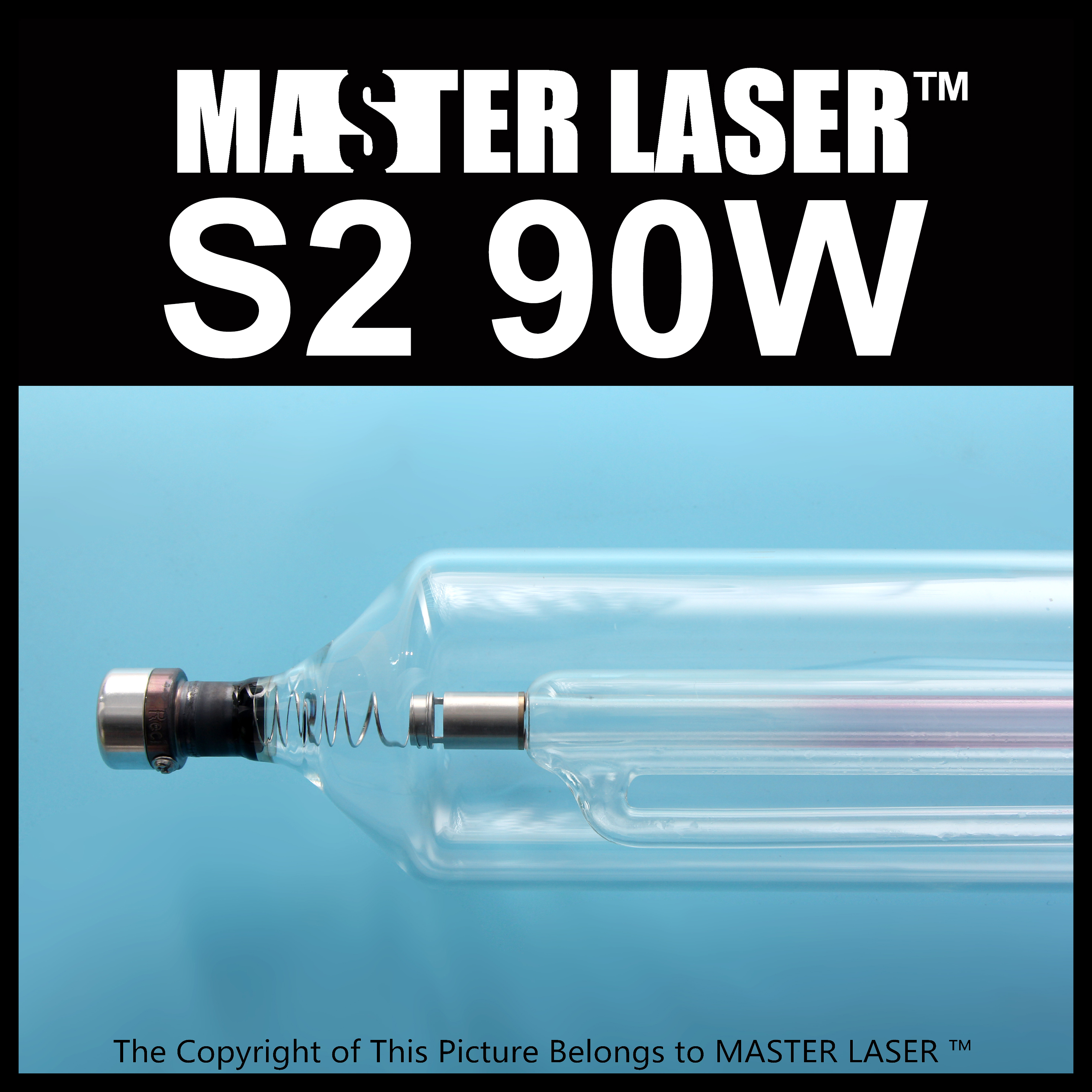 reci Glass Laser Tube  S2 90w Peak Power 110W for Flatbed Cutter