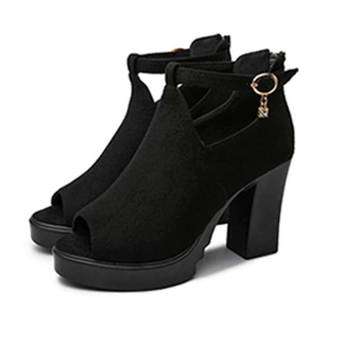 European sandals shoes - Hot Sale European Women Summer Shoes Buckle Strap High Heels Sandals Platform Casual Shoes For Party