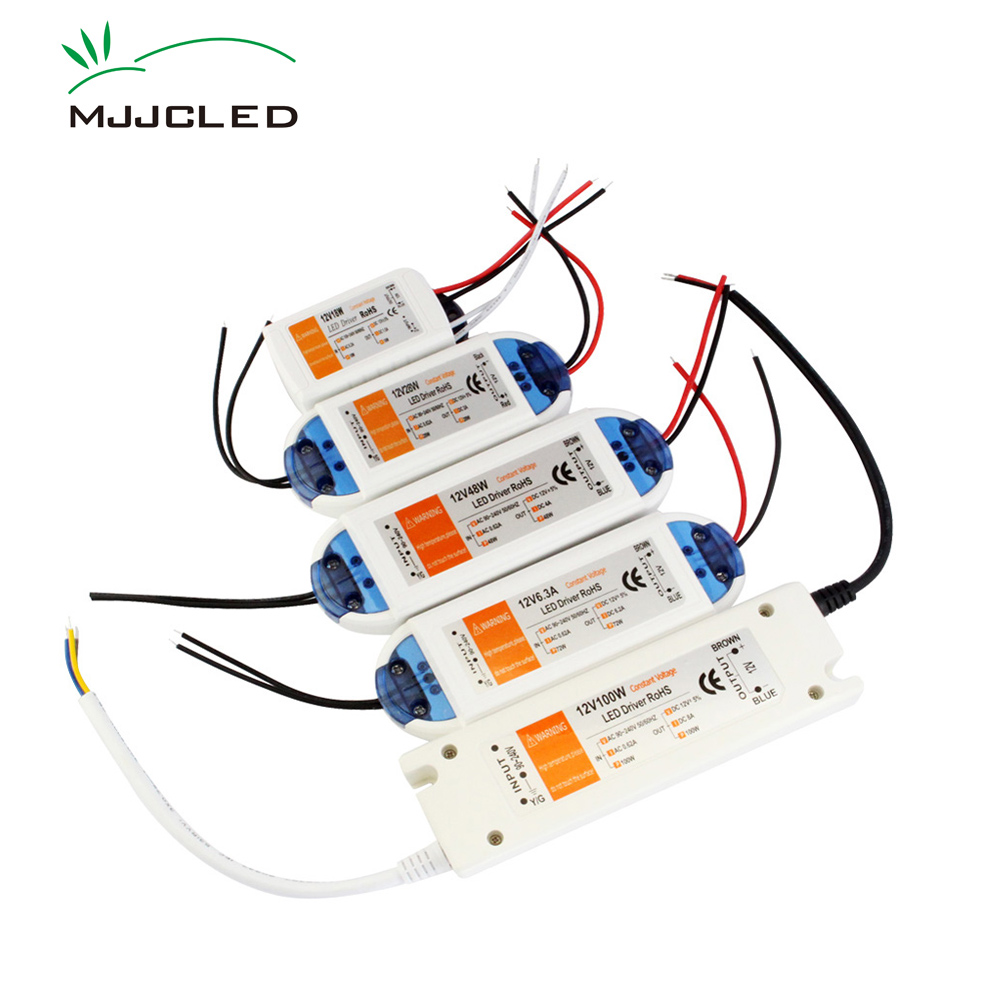 LED Driver 12V 18W 100W 28W 48W 72W Power Supply 12 Volt Adapter AC 110V 220V to 12V DC Lighting Transformer for LED Strip CCTV
