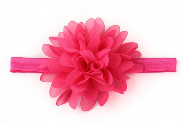 Hot Sale Baby Girl Elastic Hairband Children Hair Wear For Kids Head Band Flower Headband Baby Hair Accessories 2