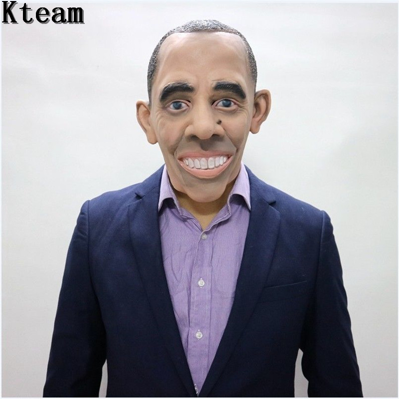 New!!! Famous Man Donald Trump Vladimir Putin Obama <font><b>Mr</b></font>.<font><b>Bean</b></font> Psy <font><b>Costume</b></font> Mask Halloween Realistic Latex Masquerade Carnival Mask image
