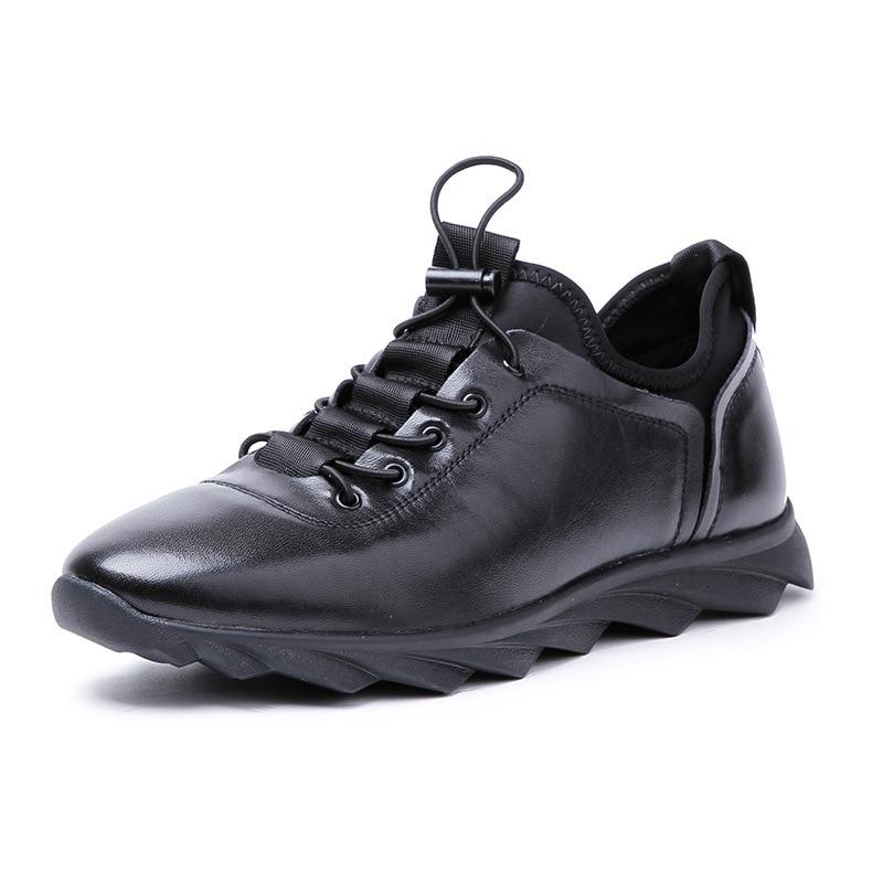 Cuir Desai Sneakers Black Taille Sport De Marque Noir Pour VéritableHomme Décontracté Italien Designer 43 Hommes Élastique 38 Chaussures Bande qiang 80knOPNwX
