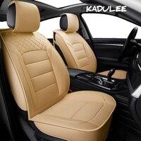 KADULEE pu leather Universal Car Seat covers for Chery all models A1/ 3/5 Cowin Fulwin Riich E5 E3 QQ3 6 V5 Tiggo X1 car styling