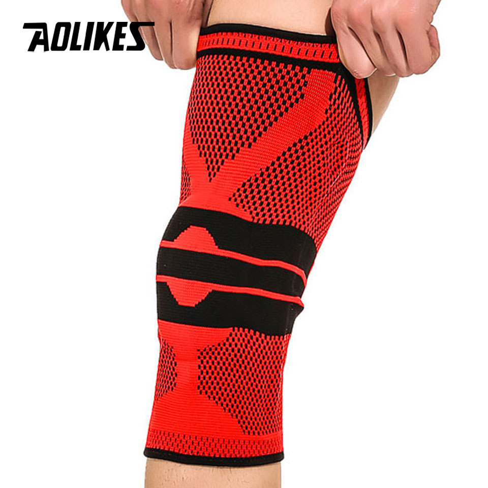 dac729d540 Detail Feedback Questions about AOLIKES 1PCS Fitness Running Knee Support  Protect Gym Sport Braces Kneepad Elastic Nylon Silicon Padded Compression  Knee Pad ...