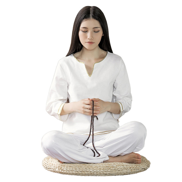 High Quality Fluid Systems Yoga Set 5Color Women New Meditation Clothes Lady Dance Fitness Long Suit White Yoga Sportswear S-XL
