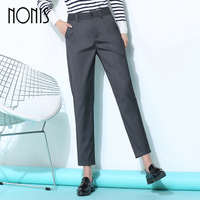 Nonis Casual Office Lady Business Suits pants Work Wear Sets Uniform Styles Elegant Formal trousers for Women Gray Black