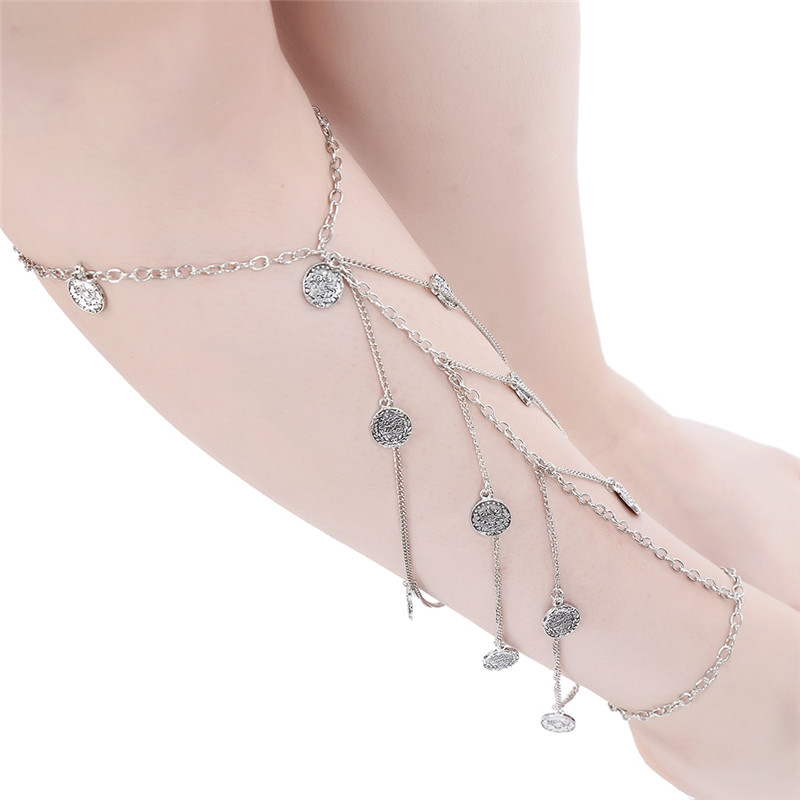 Foot Chain Multi-Layer Chain Anklet Boho Bohemian Hippie Beach Style Jewelry