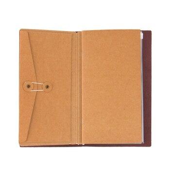Vintage Kraft Paper Notebook Traveler Notebook S M L Pocker Business Card Holder Passport Style File Folder