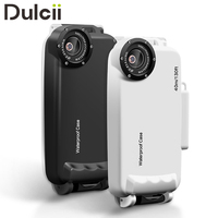 DULCII Diving Case For IPhone 6s Case For IPhone 7 Plus IPX8 40m 130ft Underwater Waterproof