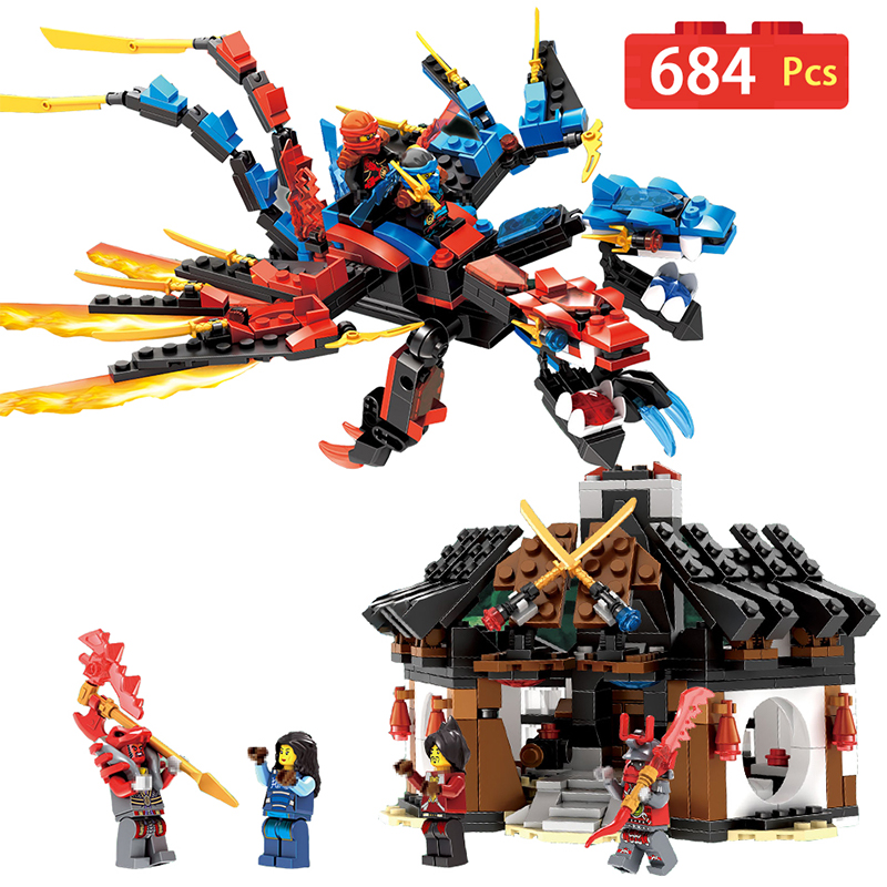 Ninjago Set Green Ninja Mech Dragon Building Blocks Compatible LegoINGlys Ninja Bricks Action Figures Enlighten Toy For Children 2 sets jurassic world tyrannosaurus building blocks jurrassic dinosaur figures bricks compatible legoinglys zoo toy for kids